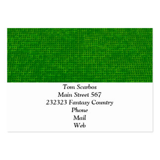 woven structure green pack of chubby business cards