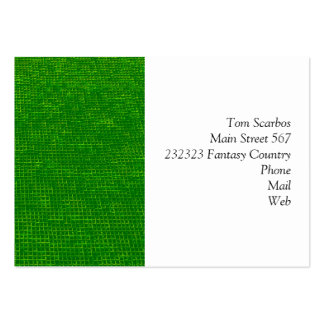 woven structure green business card template