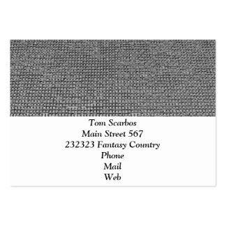 woven structure metal silver business cards