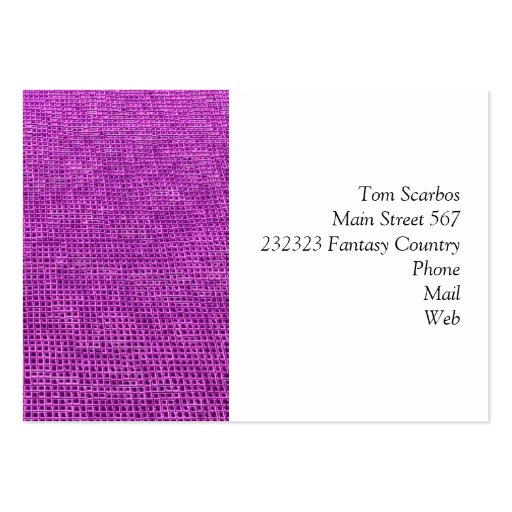 woven structure neon pink business cards