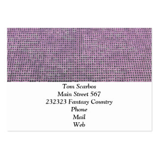 woven structure pink business cards