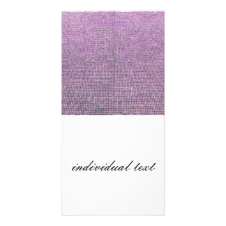 woven structure pink personalized photo card