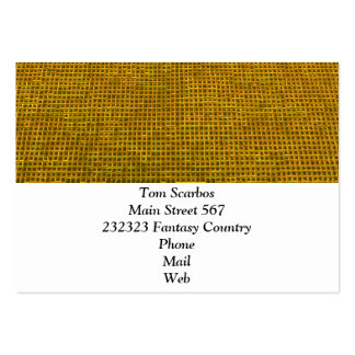 woven structure yellow business card