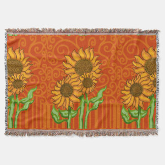 Woven Throw Blanket/Sunflower Trio