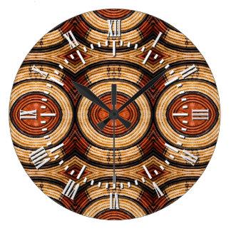 Woven Trivet Pattern Large Clock
