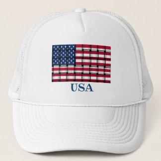 Woven USA Flag Ballcap Trucker Hat