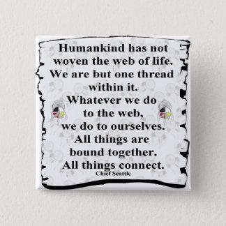 Woven web 15 cm square badge