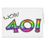 WOW 40TH BIRTHDAY GREETING CARD