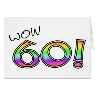 WOW 60TH BIRTHDAY CARD