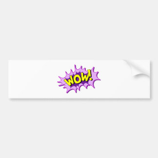 Wow comic bumper sticker