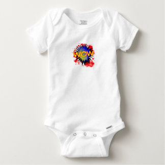 Wow Comic Exclamation Baby Onesie