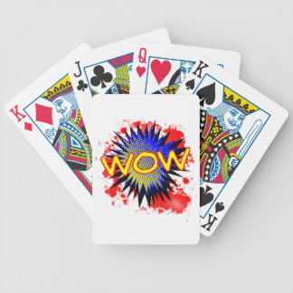 Wow Comic Exclamation Bicycle Playing Cards
