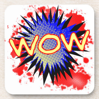 Wow Comic Exclamation Coaster