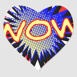 Wow Comic Exclamation Heart Sticker