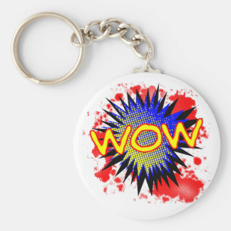Wow Comic Exclamation Key Ring