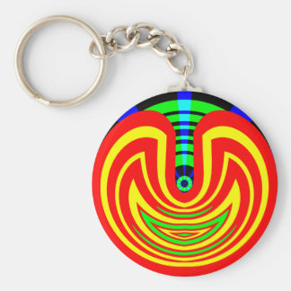 Wow Factor Basic Round Button Key Ring