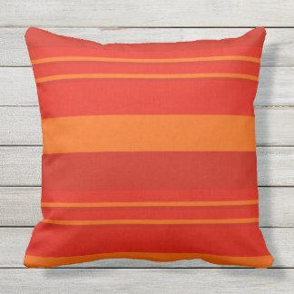 WOW FACTOR RED RETRO STRIPES throw cushion