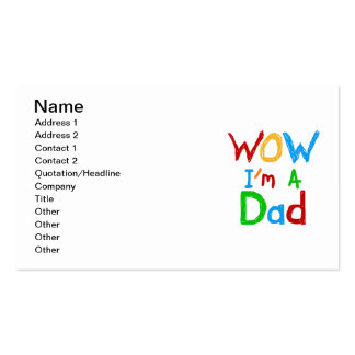 WOW I'm a Dad T-shirts and GIfts Pack Of Standard Business Cards