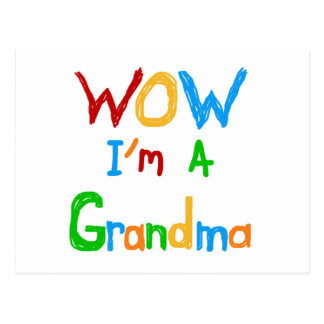 WOW I'm a Grandma T-shirts and Gifts Postcard