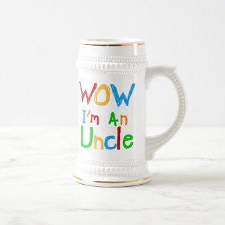 WOW I'm an Uncle T-shirts and GIfts Beer Stein