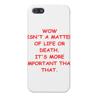 wow joke iPhone 5 covers