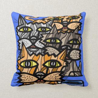 """""""Wow Meow"""" BuddaKats Throw Pillow"""