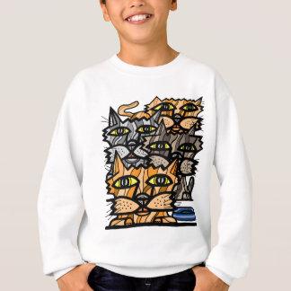"""Wow Meow"" Kids' Hanes Sweatshirt"