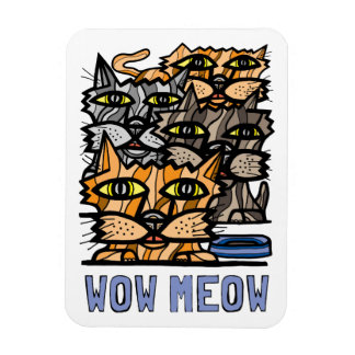 """Wow Meow"" Magnet"
