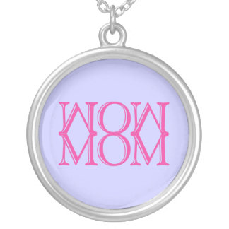 WOW MOM ROUND PENDANT NECKLACE