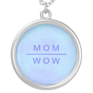 Wow Mom necklace in blue