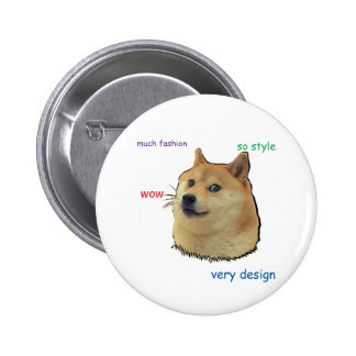 Wow.  Such 6 Cm Round Badge