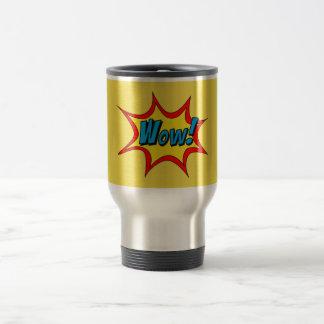 Wow Superhero word bubble Travel Mug