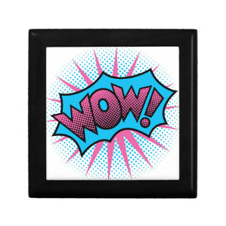 Wow Text Design Gift Box