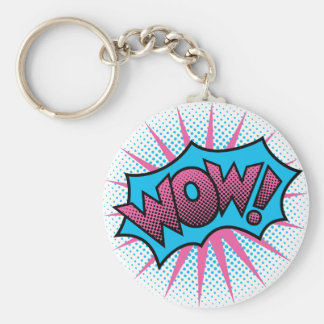 Wow Text Design Key Ring