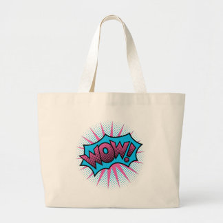 WOW! Text Design Large Tote Bag