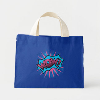 Wow Text Design Mini Tote Bag