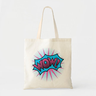 WOW! Text Design Tote Bag