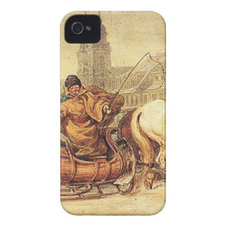 Woznica_warszawski_Sleigh Ride #2 iPhone 4 Case-Mate Case