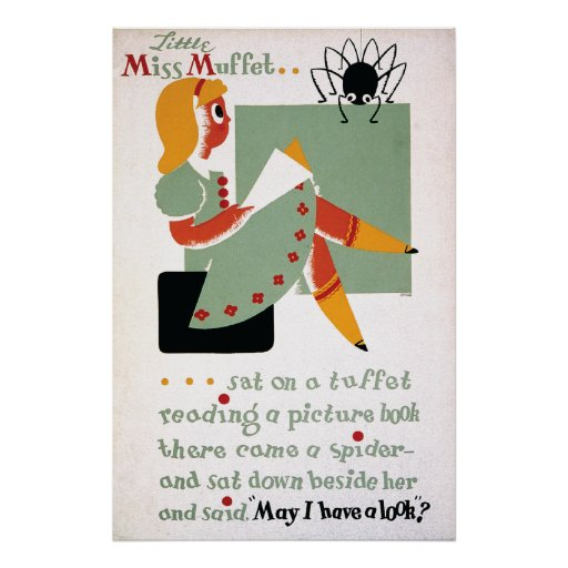 WPA Little Miss Muffet 1936 Posters