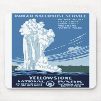 "WPA Posters - ""Yellowstone"" Mousepad"