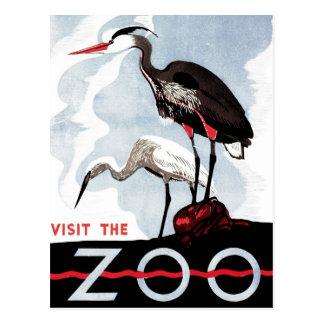 "WPA - ""Visit the Zoo"" Postcard"