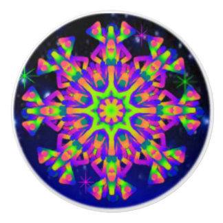WQ Kaleidoscope Ceramic Knob PINK Lovers
