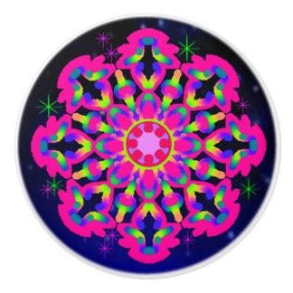 WQ Kaleidoscope Ceramic Knob Pink Lovers #3