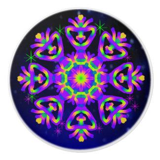 WQ Kaleidoscope Ceramic Knob Purple Lovers 2