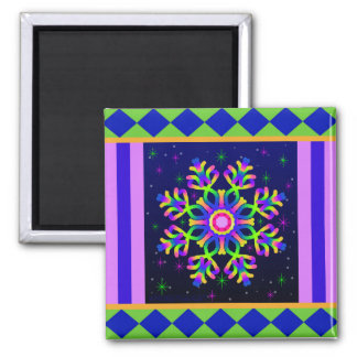 WQ Kaleidoscope Magnet Square Posh Series No. 2