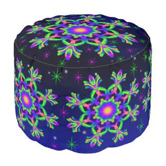 WQ Kaleidoscope Mandala Pouf