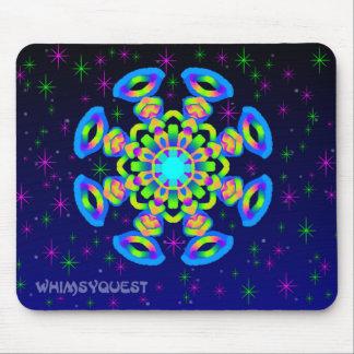 WQ Kaleidoscope Mouse Pad in Blue Jewel Look