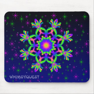 WQ Kaleidoscope Mouse Pad  in Purple and Green