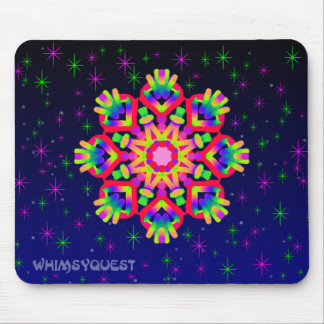 WQ Kaleidoscope Mouse Pad in Red Jewel Look