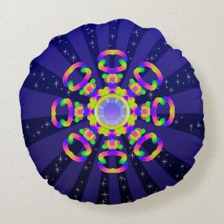 WQ Kaleidoscope Round Pillow Burst Series No 7